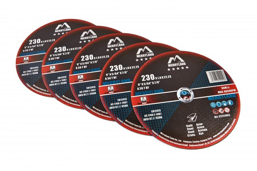 Merryland 230mm Doorslijpschijf voor de haakse slijper per 25 stuks