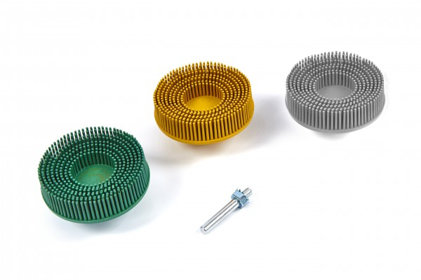 Hbm 3 Delige Bristle Disc Set Met 6 Mm Stiftopname Hbm