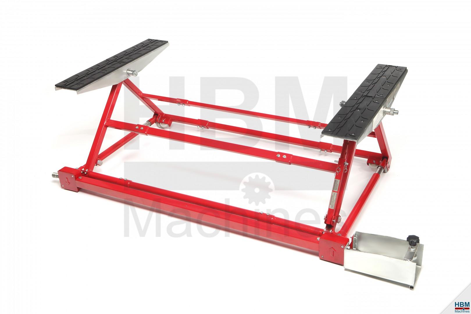 hbm 1500 kg mini autobrug verstelbaar hbm machines. Black Bedroom Furniture Sets. Home Design Ideas