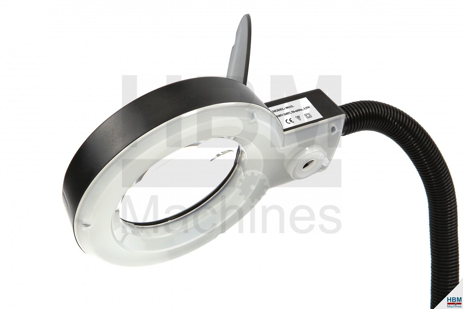 hbm verstelbare loupelamp met led verlichting klein zwart. Black Bedroom Furniture Sets. Home Design Ideas
