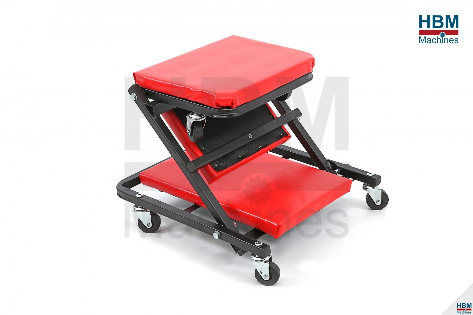 Hbm verrijdbare ligmat garage ligbed stoel hbm machines for Garage ad angers route de bouchemaine