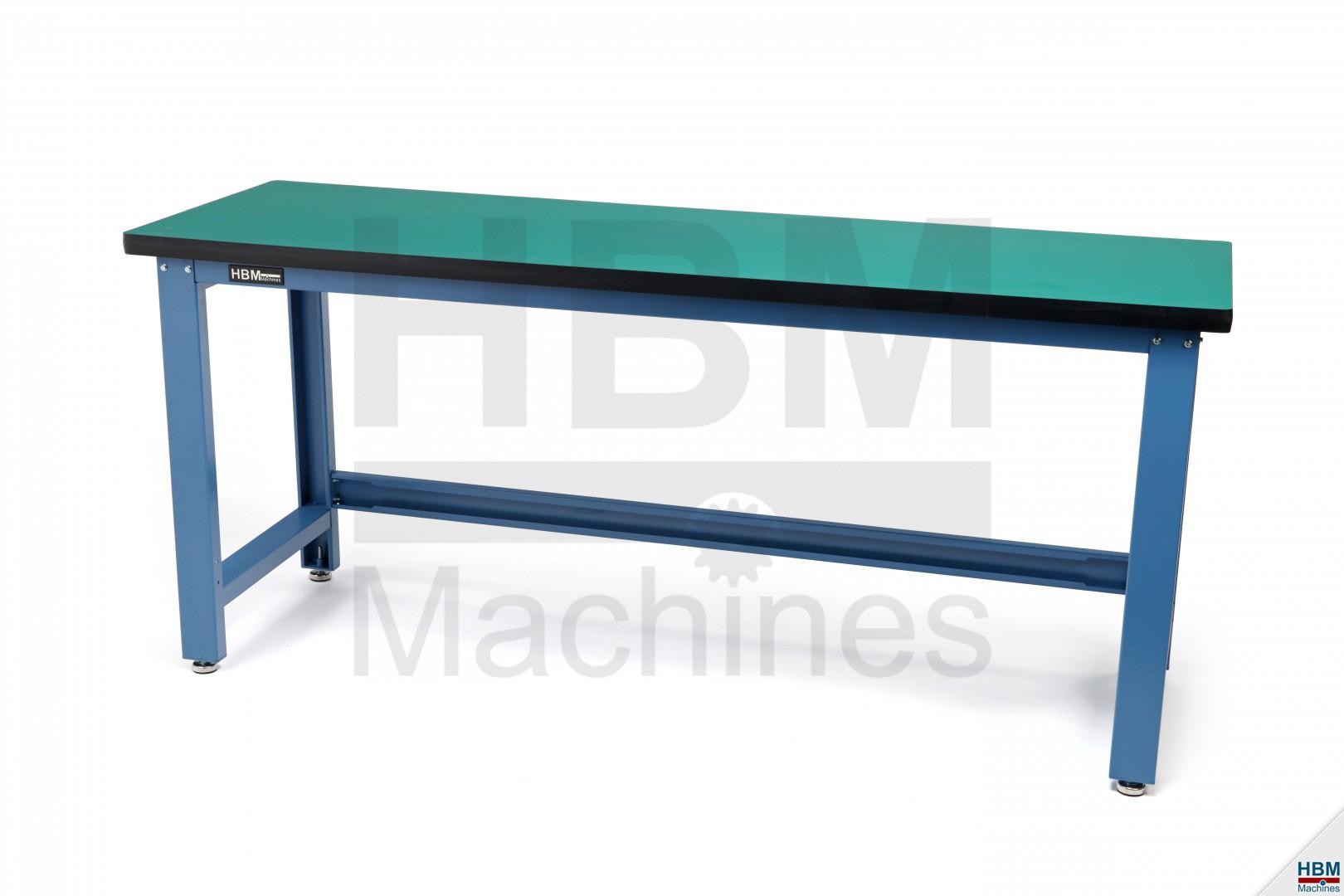 hbm 200 cm professionele werkbank met mdf blad hbm machines. Black Bedroom Furniture Sets. Home Design Ideas