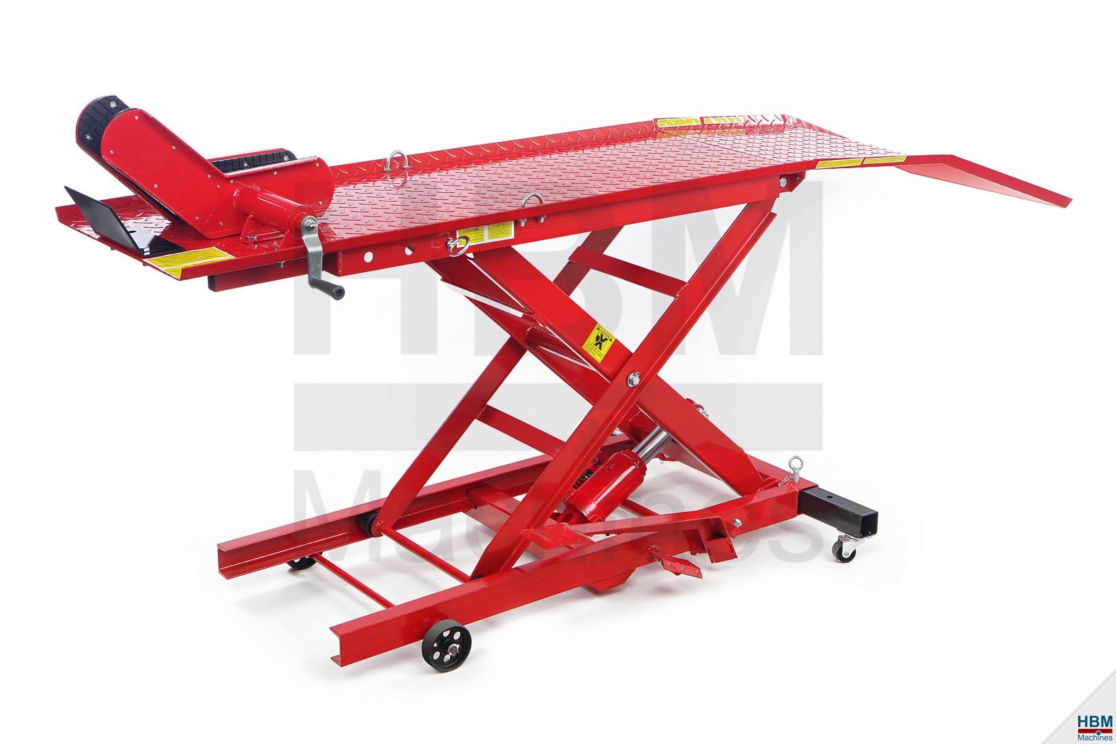 Hbm 100 motorheftafel hbm machines for Table elevatrice