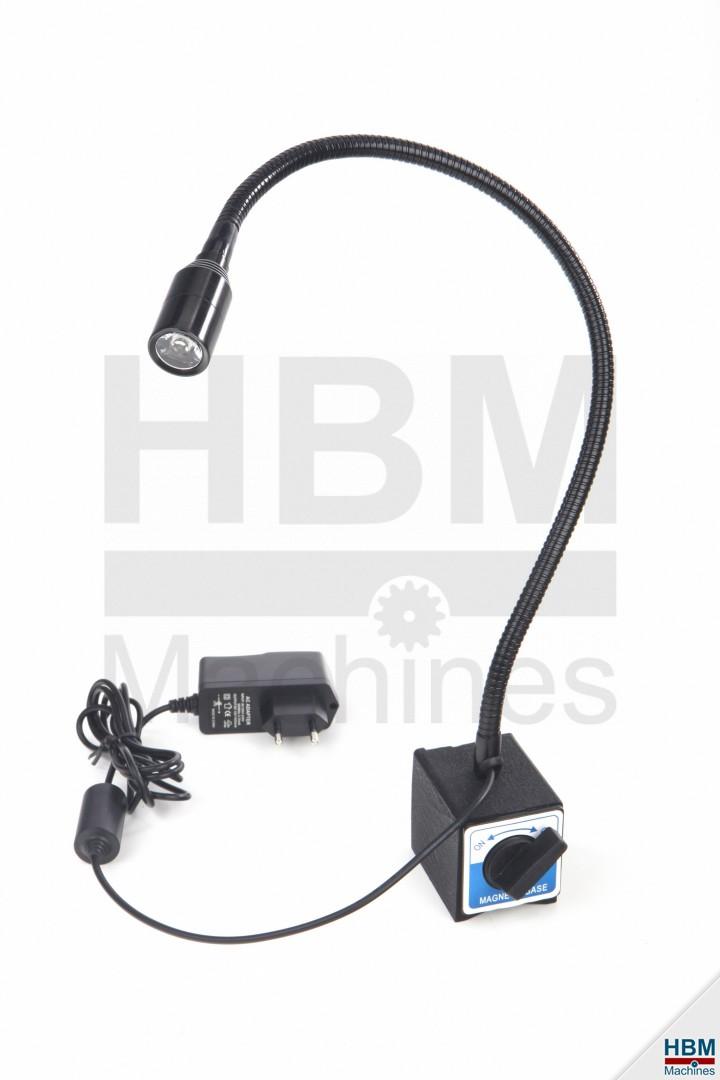 hbm magneetvoet met 230 volt led verlichting hbm machines. Black Bedroom Furniture Sets. Home Design Ideas
